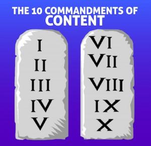 The 10 Commandments of Content for B2B Sales Success